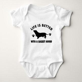 basset hound dog design baby bodysuit