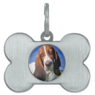 Basset Hound Dog Design Pet Tag