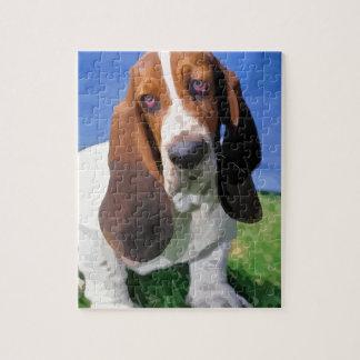 Basset Hound Dog Design Puzzle