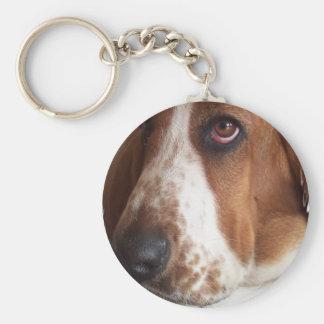 Basset Hound Dog Keychain