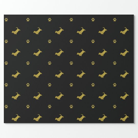 Basset Hound Dog Paw Gift Wrapping paper