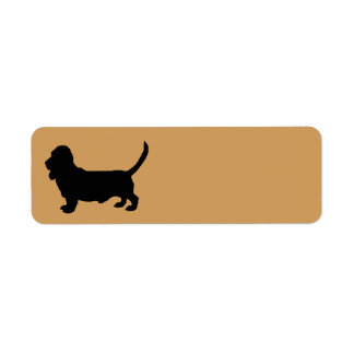 Basset Hound Dog Silhouette Return Address Label