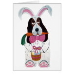Basset Hound Easter Bunny Greeting Cards