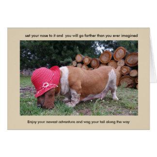 Basset hound encouragement card