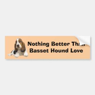 Basset Hound Fabulous Face Bumper Sticker