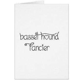 basset hound fancier card