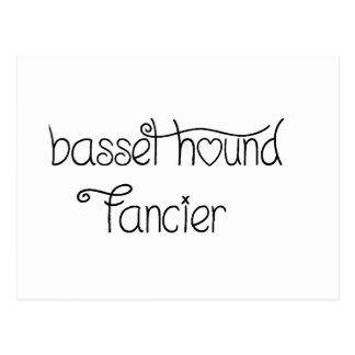 basset hound fancier postcard