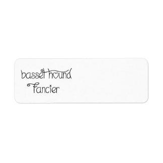 basset hound fancier return address label