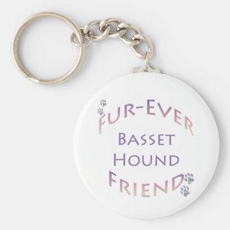 Basset Hound Furever Keychain
