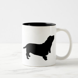 Basset Hound Gear Two-Tone Coffee Mug