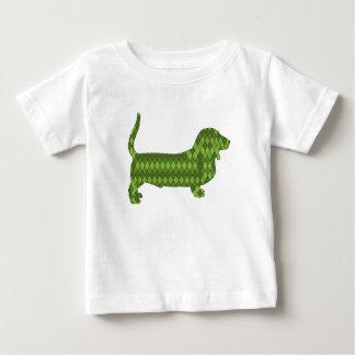 basset hound green baby T-Shirt