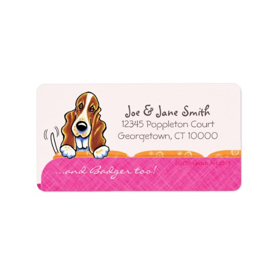 Basset Hound Happy Couch Dog Girly Pink
