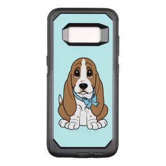 Basset Hound in Blue Bow OtterBox Commuter Samsung Galaxy S8 Case