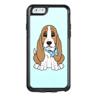 Basset Hound in Blue Bow OtterBox iPhone 6/6s Case