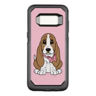 Basset Hound in Pink Bow OtterBox Commuter Samsung Galaxy S8 Case