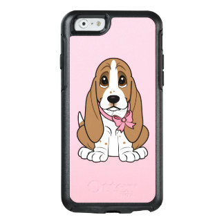 Basset Hound in Pink Bow OtterBox iPhone 6/6s Case