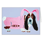 Basset Hound In Pink Bunny Suit Card