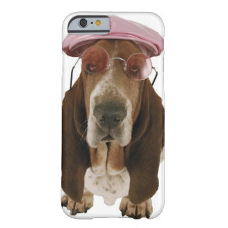 Basset hound in sunglasses and cap barely there iPhone 6 case