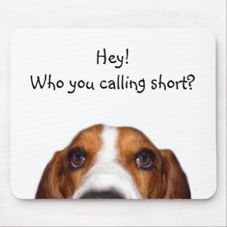Basset Hound In your face Mouse Pad