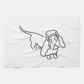 Basset Hound Kitchen Towel