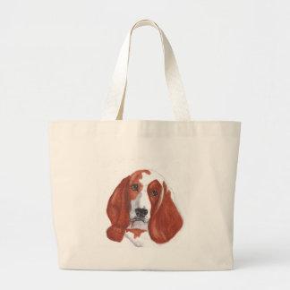 Basset Hound Large Tote Bag