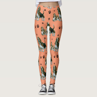 Basset Hound Leggings, Basset Hound Dogs Leggings