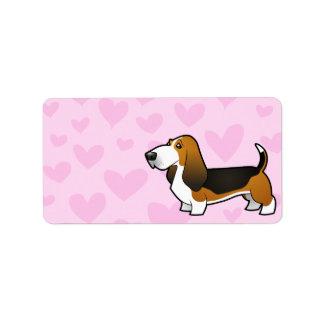 Basset Hound Love Label