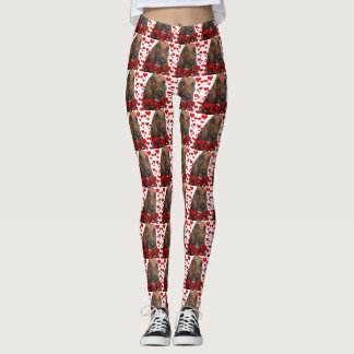 Basset hound love leggings