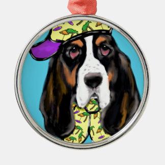 Basset Hound Metal Ornament