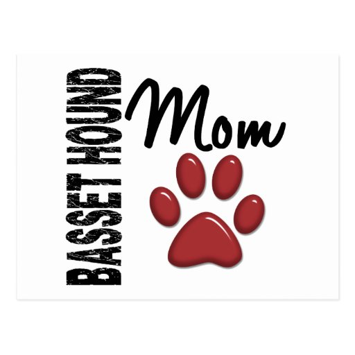 Basset Hound Mom 2 Post Cards