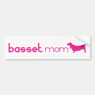 Basset Hound Mom Bumper Sticker