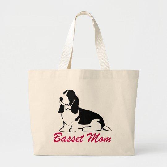 Basset Hound Mom Large Tote Bag