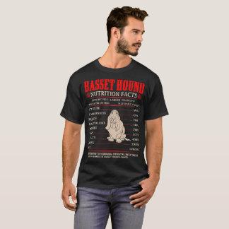 Basset Hound Nutrition Facts Stubbornness Mischief T-Shirt