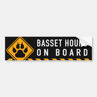 Basset Hound On Board Bumper Sticker
