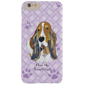 Basset Hound on Lavender Weave 6/6s+ Barely There iPhone 6 Plus Case