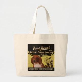 Basset Hound - Organic Coffee Company Tote Bag
