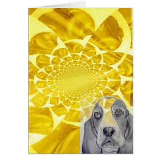 Basset Hound original artwork by Carol Zeock Card
