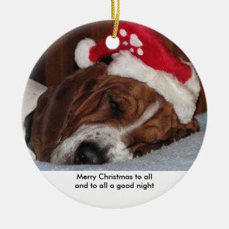Basset hound ornament