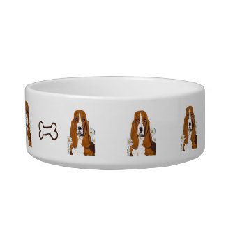 Basset Hound Personalized Dog Dish