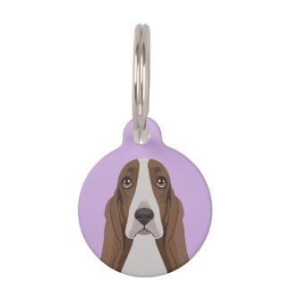 Basset Hound Pet Name Tag
