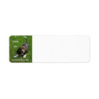 basset hound pic w love return address label