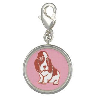 Basset Hound Pink Charm