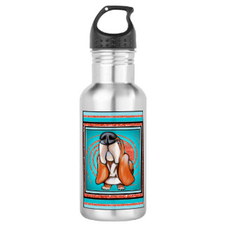 Basset Hound Pop Art Abstract  Glitter Name 532 Ml Water Bottle