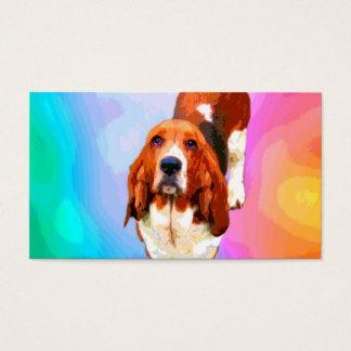 Basset Hound Pop Art Business Cards