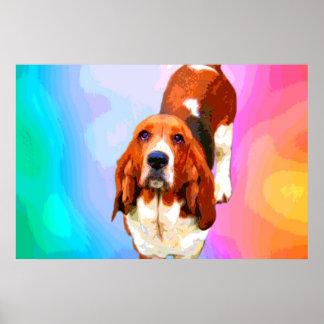 Basset Hound Pop Art Fine Art Prints