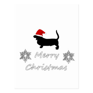 basset hound postcard