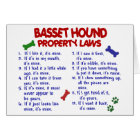 BASSET HOUND Property Laws 2 Card