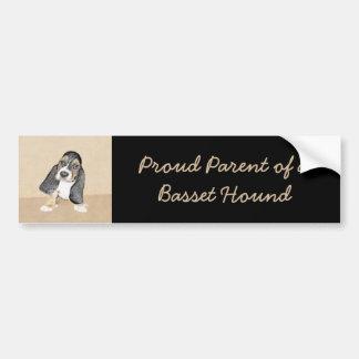 Basset Hound Puppy Bumper Sticker