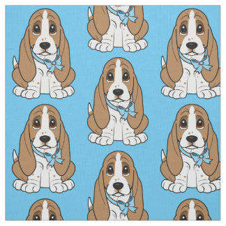 Basset Hound Puppy Fabric