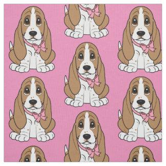 Basset Hound Puppy Fabric